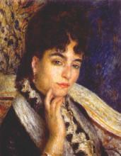 """Копия картины """"portrait of mme. alphonse daudet"""" художника """"ренуар пьер огюст"""""""