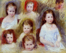 """Репродукция картины """"portraits of marie sophie chocquet"""" художника """"ренуар пьер огюст"""""""