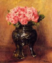 "Копия картины ""roses in a china vase"" художника ""ренуар пьер огюст"""