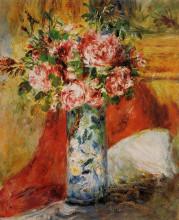 """Репродукция картины """"Roses in a Vase"""" художника """"Ренуар Пьер Огюст"""""""