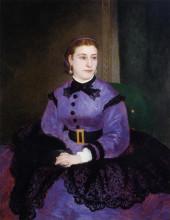"Копия картины ""Portrait of Mademoiselle Sicotg"" художника ""Ренуар Пьер Огюст"""