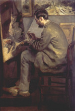 """Картина """"frederic bazille painting the heron (frederic bazille at his easel)"""" художника """"ренуар пьер огюст"""""""