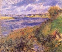 "Копия картины ""Banks of the Seine at Champrosay"" художника ""Ренуар Пьер Огюст"""