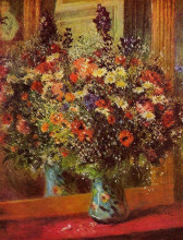 """Картина """"bouquet in front of a mirror"""" художника """"ренуар пьер огюст"""""""