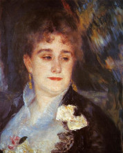 "Копия картины ""First Portrait of Madame Georges Charpeitier"" художника ""Ренуар Пьер Огюст"""