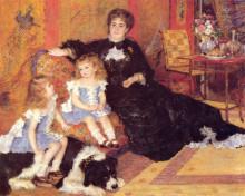 "Репродукция картины ""madame georges charpentier and her children"" художника ""ренуар пьер огюст"""