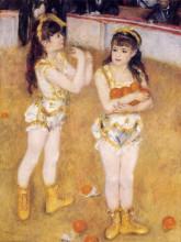 "Картина ""acrobats at the cirque fernando (francisca and angelina wartenberg)"" художника ""ренуар пьер огюст"""
