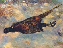 "Копия картины ""dead pheasant in the snow"" художника ""ренуар пьер огюст"""