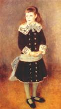 "Копия картины ""marthe berard (girl wearing a blue sash)"" художника ""ренуар пьер огюст"""