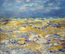 "Копия картины ""Seascape near berneval"" художника ""Ренуар Пьер Огюст"""