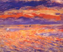 """Копия картины """"Sunset at sea"""" художника """"Ренуар Пьер Огюст"""""""