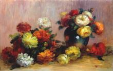 "Копия картины ""bouquets of flowers"" художника ""ренуар пьер огюст"""