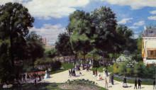 "Репродукция картины ""the champs elysees during the paris fair of 1867"" художника ""ренуар пьер огюст"""