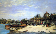 "Картина ""the pont des arts and the institut de france"" художника ""ренуар пьер огюст"""