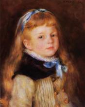 "Картина ""Mademoiselle Grimprel in a Blue Ribbon"" художника ""Ренуар Пьер Огюст"""