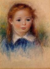 "Картина ""portrait of a little girl"" художника ""ренуар пьер огюст"""