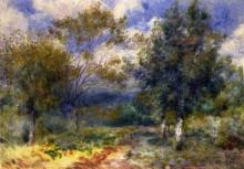 "Картина ""sunny landscape"" художника ""ренуар пьер огюст"""