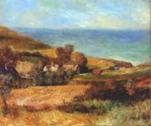 "Репродукция картины ""view of the normandy coast near wargemont"" художника ""ренуар пьер огюст"""