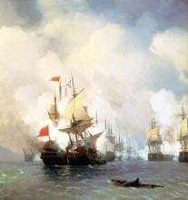 """Репродукция картины """"хиосское сражение 24 июня 1770 года"""" художника """"айвазовский иван"""""""