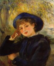 "Копия картины ""mademoiselle demarsy (woman leaning on her elbow)"" художника ""ренуар пьер огюст"""