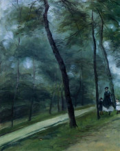 """Картина """"A Walk in the Woods (Madame Lecoeur and Her Children)"""" художника """"Ренуар Пьер Огюст"""""""