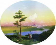 """Картина """"вид на москву с воробьевых гор"""" художника """"айвазовский иван"""""""