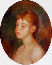 "Картина ""Study of a Young Girl (Mademoiselle Murer)"" художника ""Ренуар Пьер Огюст"""