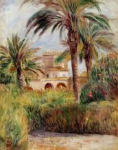 """Репродукция картины """"The Test Garden in Algiers"""" художника """"Ренуар Пьер Огюст"""""""
