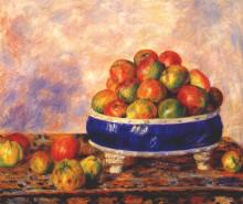 """Репродукция картины """"Apples in a dish"""" художника """"Ренуар Пьер Огюст"""""""