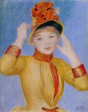 """Репродукция картины """"Bust of a Woman (Yellow Dress)"""" художника """"Ренуар Пьер Огюст"""""""