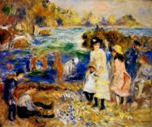 """Репродукция картины """"Children by the Sea in Guernsey"""" художника """"Ренуар Пьер Огюст"""""""