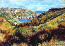 """Репродукция картины """"hills around moulin huet bay"""" художника """"ренуар пьер огюст"""""""