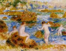 "Картина ""Nude Boys on the Rocks at Guernsey"" художника ""Ренуар Пьер Огюст"""