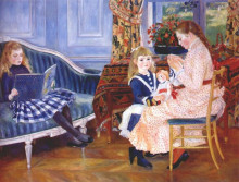 "Копия картины ""children`s afternoon at wargemont (marguerite)"" художника ""ренуар пьер огюст"""