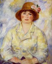 "Картина ""Aline Charigot (future Madame Renoir)"" художника ""Ренуар Пьер Огюст"""
