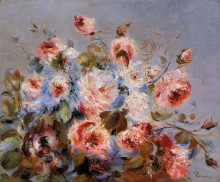 "Картина ""roses from wargemont"" художника ""ренуар пьер огюст"""