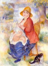 "Картина ""motherhood (woman breast feeding her child)"" художника ""ренуар пьер огюст"""