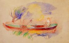 "Копия картины ""two women in a rowboat"" художника ""ренуар пьер огюст"""