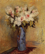 """Картина """"vase of lilacs and roses"""" художника """"ренуар пьер огюст"""""""