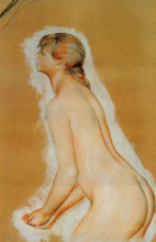 "Копия картины ""nude (study for the large bathers )"" художника ""ренуар пьер огюст"""