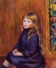 "Копия картины ""Seated Child in a Blue Dress"" художника ""Ренуар Пьер Огюст"""