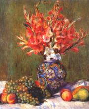 "Репродукция картины ""still life flowers and fruit"" художника ""ренуар пьер огюст"""