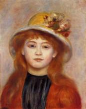 """Картина """"woman wearing a hat"""" художника """"ренуар пьер огюст"""""""