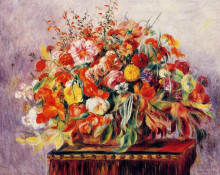 "Картина ""basket of flowers"" художника ""ренуар пьер огюст"""
