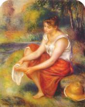 "Копия картины ""girl wiping her feet"" художника ""ренуар пьер огюст"""