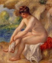"""Картина """"Leaving the Bath"""" художника """"Ренуар Пьер Огюст"""""""