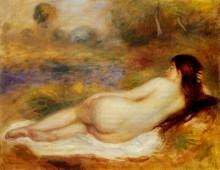 """Репродукция картины """"Nude Reclining on the Grass"""" художника """"Ренуар Пьер Огюст"""""""