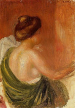 "Картина ""Seated Woman in a Green Robe"" художника ""Ренуар Пьер Огюст"""