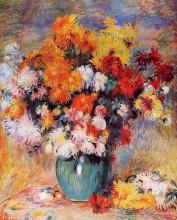 "Картина ""vase of chrysanthemums"" художника ""ренуар пьер огюст"""