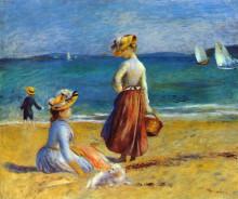 """Копия картины """"Figures on the Beach"""" художника """"Ренуар Пьер Огюст"""""""